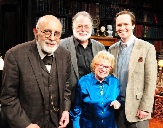 George Morfogen, Mark St. Germain, Dr. Ruth, and Jim Stanek