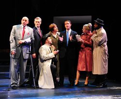 Sal Mistretta, William T. Lewis, David Michael Laffey, Stephanie Hayslip, Adam Simmons, Carrie St. Louis,and Jay Donnell in The Fix
