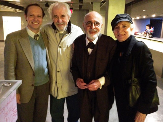 Jim Stanek, Louis Zorich, George Morfogen, and Olympia Dukakis