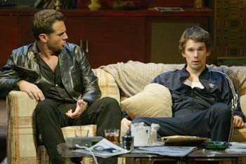 Bobby Cannavale and Ethan Hawke in Hurlyburly(Photo © Carol Rosegg)