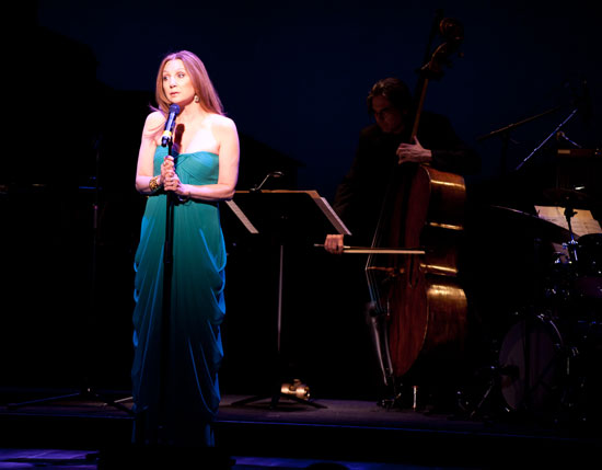 """Singer Donna Murphy performing """"Something Known"""" by Mary Rodgers Guettel (lyrics by Marshall Barer) (© Nan Melville)"""