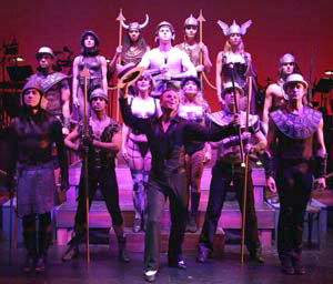 Sam Harris and the cast of Pippin(Photo © Michael Lamont)