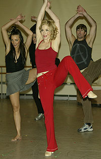 Christina Applegate andSweet Charity cast members(Photo © Joseph Marzullo)
