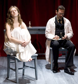 Marin Ireland and Victor Slezak in Sabina(Photo © Carol Rosegg)