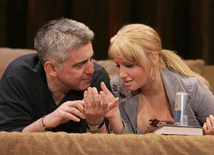 Adam Arkin and Ari Graynor in Brooklyn Boy(Photo © Joan Marcus)