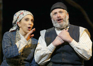 Andrea Martin and Harvey Fierstein in Fiddler on the Roof(Photo © Carol Rosegg)