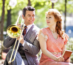 Burke Moses and Kate Baldwin