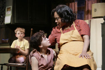 Alexander L. Lange, Nathalie Nicole Paulding, and Lynda Grav&aacute;tt in The Member of the Wedding(Photo &copy; T. Charles Erickson)