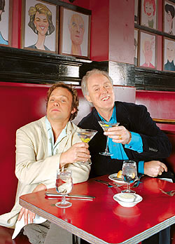 Norbert Leo Butz and John Lithgow at Sardi's(Photo © Peter Berberian)
