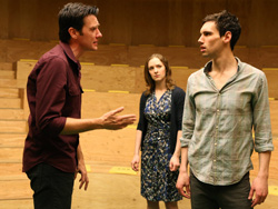 Jason Butler Harner, Amanda Quaid,and Cory Michael Smith in Cock