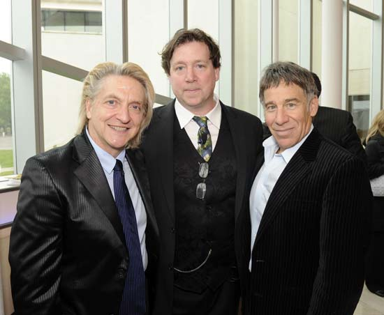 Chet Walker, Executive Director of Queens Theatre Ray Cullom, and Stephen Schwartz
