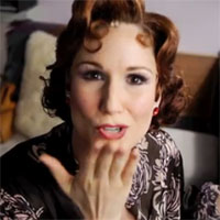 "Stephanie J. Block in still for Anything Goes cast's  ""What Makes You Beautiful"" video"