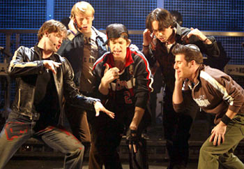 Scott Porter, Tyler Maynard, Andy Karl, Ryan Duncan, and David Josefsberg.