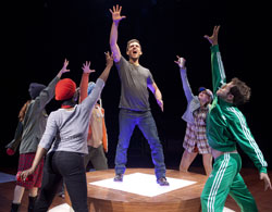 Adam Kantor (center) and company