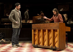 Steve Kazee and Cristin Milioti in Once