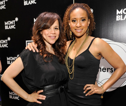 Rosie Perez and Tracie Thoms at the 24 Hour Plays
