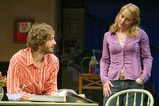 Ebon Moss-Bachrach and Amy Ryan in On the Mountain(Photo © Joan Marcus)