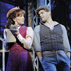Kara Lindsay and Jeremy Jordan in Newsies