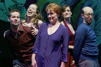 Jason Dula, Lauren Shealy, Jeanne Lehman, Jane Bodle, andSteve Routman in Lingoland(Photo © Carol Rosegg)