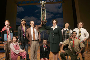 The cast of The 25th Annual Putnam County Spelling Bee(Photo © Carol Rosegg)