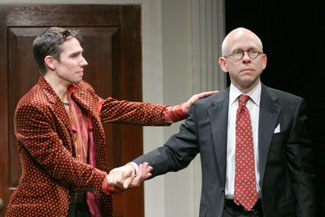 Keith Nobbs and Bob Balaban in Romance(Photo © Gerry Goodstein)