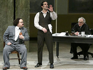Adrian Martinez, Yul Vázquez, and Jeffrey DeMunn in The Last Days of Judas Iscariot