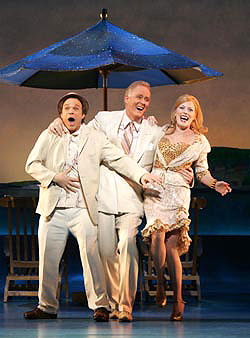 Norbert Leo Butz, John Lithgow, andSherie Rene Scott in Dirty Rotten Scoundrels(Photo © Carol Rosegg)