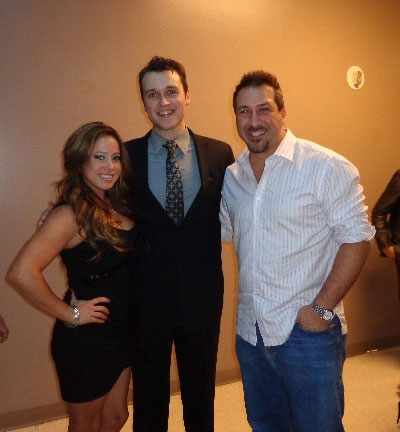 Sabrina Bryan, Jersey Boys cast member Rob Marnell, and Joey Fatone