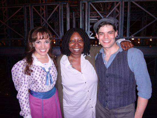 Kara Lindsay, Whoopi Goldberg, Jeremy Jordan