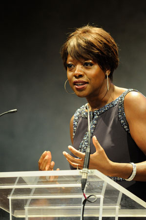 Viola Davis accepting the 2012 Pell Award for Lifetime Achievement in the Arts