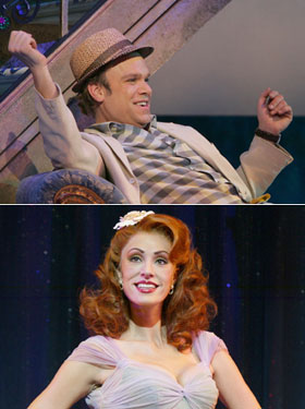 Norbert Leo Butz and Sara Gettelfinger inDirty Rotten Scoundrels(Photos © Carol Rosegg)