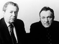 Cohen with Richard Burton