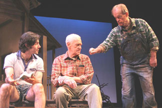 Louis Cancelmi, John Mahoney, and Paul Vincent O'Connorin The Drawer Boy(Photo © Jerry Dalia)