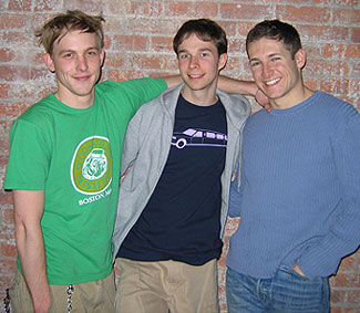 (l-r) Robin Lord Taylor, Hunter Gilmore, and Noah Peters(Photo © Michael Portantiere)