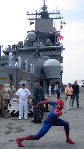 Spider-Man on the USS Wasp (Courtesy O&M Co.)
