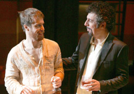 Sam Rockwell and Eric Bogosian inThe Last Days of Judas Iscariot(Photo © Carol Rosegg)