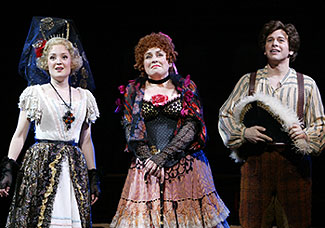 Anna Christy, Judy Kaye, and Keith Jameson in Candide(Photo © Carol Rosegg)