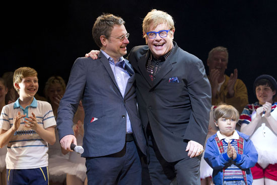 Lee Hall, Elton John and the cast of Billy Elliot the Musical