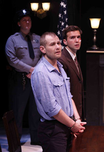 Ryan Scoble, Chad Kimball, and Guy Burnet in Murder in the First
