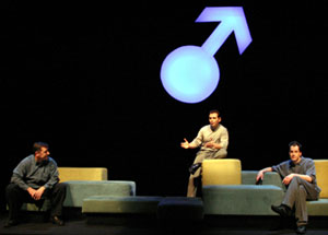 Steve Luker, Lev Gorn, and Christian Johnstone in The Penis Monologues: Men Speak