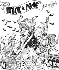 Promotional art for Jess Conda's Rock and Awe series