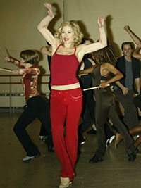 Christina Applegate in rehearsalfor Sweet Charity(Photo © Joseph Marzullo)