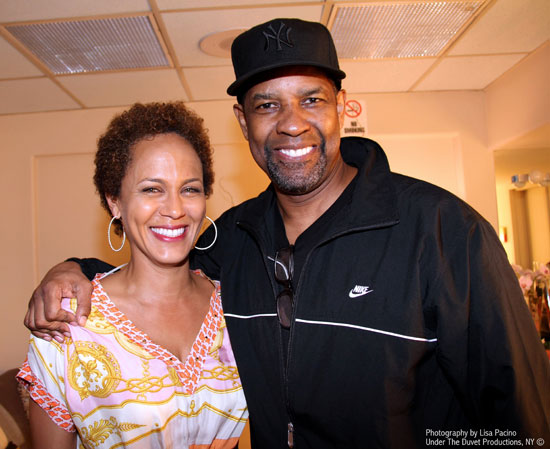 Nicole Ari Parker and Denzel Washington