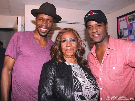 Wood Harris, Aretha Franklin, and Blair Underwood