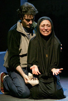 Arian Moayed and Sanaz Alexander
