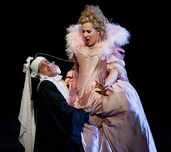 Juan Diego Florez and Diana Damrau in Le Comte Ory (© Marty Sohl)