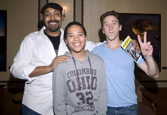 Jesse L. Martin, family friend Bradley, and Luther Creek