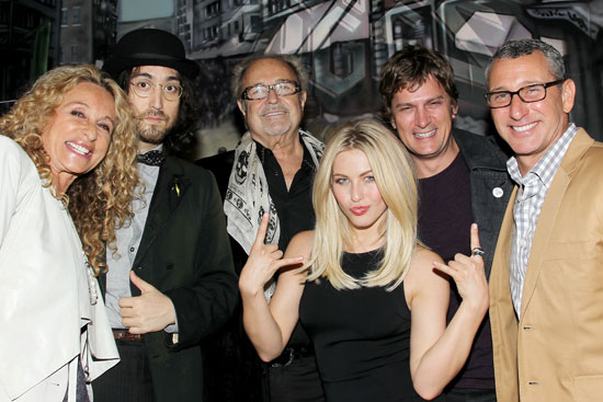 Ann Dexter-Jones, Sean Lennon, Mick Jones, Rob Thomas, Adam Shankman, Rob Thomas, Marisol Thomas, and Julianne Hough