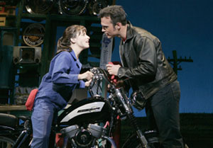 Jenn Gambatese and Cheyenne Jackson in All Shook Up(Photo © Joan Marcus)