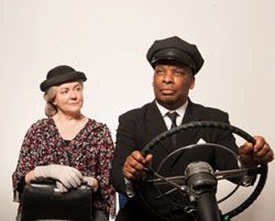 Gwen Taylor and, Don Warrington in Driving Miss Daisy (Courtesy of the company)